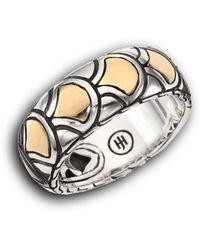 John Hardy - Naga 18k Yellow Gold & Sterling Silver Band Ring - Lyst