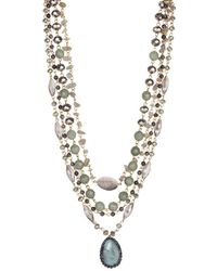 Saachi - Marie Mother-of-pearl Layered Necklace - Lyst