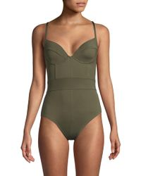 Proenza Schouler - One-piece Underwire Swimsuit - Lyst