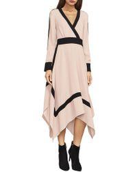 BCBGMAXAZRIA - Bambi Colorblock Wrap Dress - Lyst