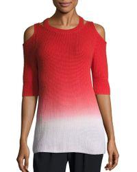Zoe Jordan - Aristotle Ombre Cold-shoulder Sweater - Lyst