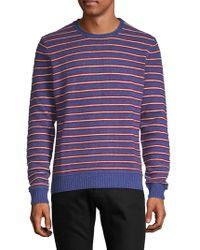Saks Fifth Avenue - Crewneck Striped Cashmere Jumper - Lyst