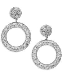 Panacea - Geometric Textured Earrings - Lyst