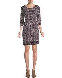 Max Studio - Classic Patterned A-line Dress - Lyst