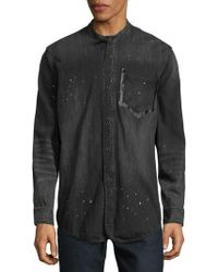 PRPS - Speckled Cotton Button-down Shirt - Lyst