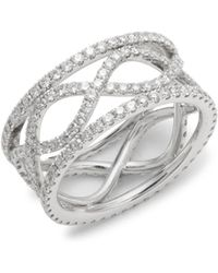 Kwiat - Wave Diamond & 18k White Gold Ring - Lyst