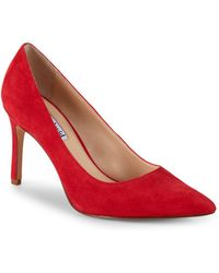 Charles David - Denise Suede Point Toe Court Shoes - Lyst