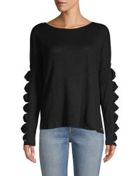 Betsey Johnson - Cut-out Long-sleeve Top - Lyst