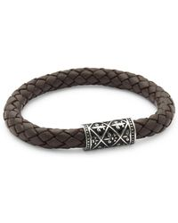 Saks Fifth Avenue - Ornament Leather Bracelet - Lyst