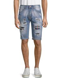Xray Jeans - Ripped Denim Shorts - Lyst