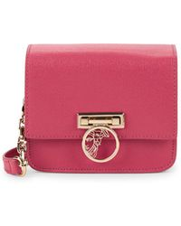 eac04ce805 Versace Leather Crossbody Mini Bag in Red - Lyst