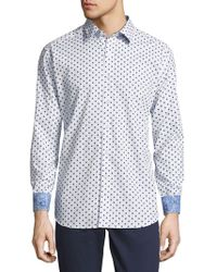 Robert Graham - Cotton Designed Button-down Shirt - Lyst
