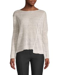 INHABIT - Draped Linen Top - Lyst
