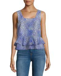 Rebecca Taylor - Leopard-print Silk Top - Lyst