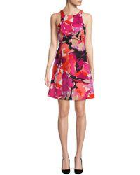 Trina By Trina Turk - Robles Printed A-line Dress - Lyst