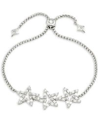 CZ by Kenneth Jay Lane - Triple Pave Star Toggle Bracelet - Lyst