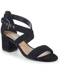 Saks Fifth Avenue - Strappy Suede Block Heel Sandals - Lyst