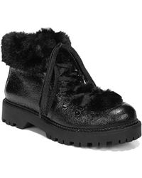 0155f3c5e Circus by Sam Edelman - Kilbourn Faux Fur-trimmed Lace-up Booties - Lyst