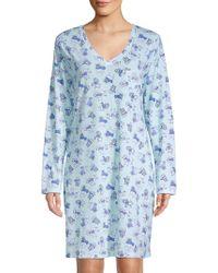Carole Hochman - Printed V-neck Sleepshirt - Lyst