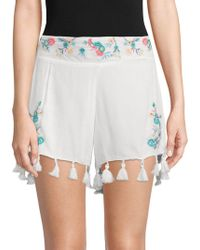 Raga - Ashlyn Embroidered Floral Shorts - Lyst