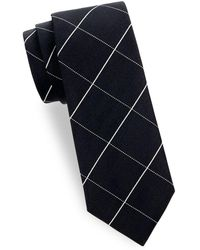 Saks Fifth Avenue - Silk Chequered Tie - Lyst