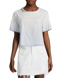 AMO - Sienna Cropped Tee - Lyst