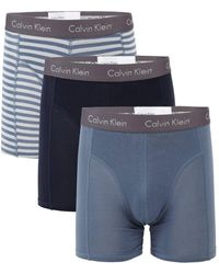 Calvin Klein - 3-pack Stretch Cotton Boxer Briefs - Lyst