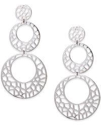 Ron Hami - Lace Sterling Silver Cutout Triple Drop Earrings - Lyst
