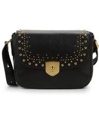 Cole Haan - Stud Leather Crossbody Bag - Lyst