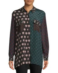 Lanvin - Haut Printed Button-down Shirt - Lyst