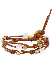 Chan Luu - Holiday 18k Gold-plated Sterling Silver & Leather Bracelet - Lyst