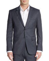 Theory - Regular-fit Tick Weave Wool-blend Sportcoat - Lyst