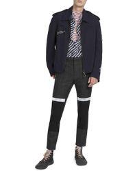 Lanvin - Printed Patch Short Jacket - Lyst