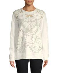 Roberto Cavalli - Mesh Front Cotton Sweatshirt - Lyst