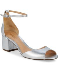 1f03de2087d8 Schutz Bob-loo Woven Leather Platform Sandals in Brown - Lyst