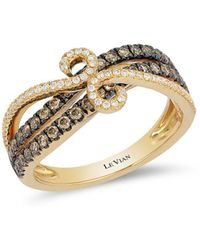 Le Vian - Chocolatier® Chocolate & Vanilla Diamond® Swirl Band Ring - Lyst