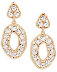 Kenneth Jay Lane - Crystal Triangle Top Drop Earrings - Lyst
