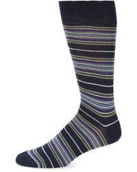 Saks Fifth Avenue - Striped Mid-thigh Socks - Lyst