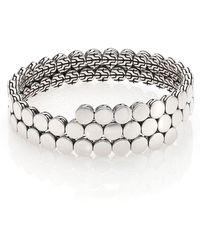 John Hardy - Dot Sterling Silver Double Coil Bracelet - Lyst