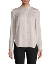 Vince - Classic Stretch-silk Shirt - Lyst