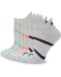 PUMA - Six-pack Striped Ankle Socks - Lyst