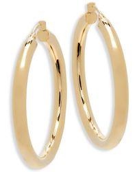 """Saks Fifth Avenue - 14k Yellow Gold Hoop Earrings/1.5"""" - Lyst"""