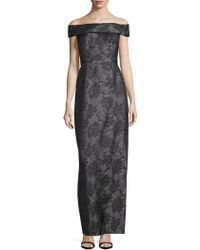 Karl Lagerfeld - Floral Jacquard Off-the-shoulder Gown - Lyst