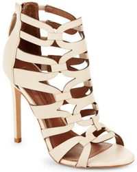 BCBGMAXAZRIA - Vicenza Leather Open Toe Sandals - Lyst