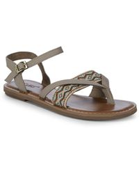 TOMS - Lexie Embroidered Sandals - Lyst