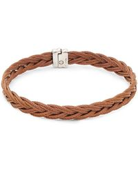 Alor - Stainless Steel Braided Bangle Bracelet - Lyst