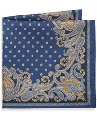 Saks Fifth Avenue - Paisley Silk Pocket Square - Lyst