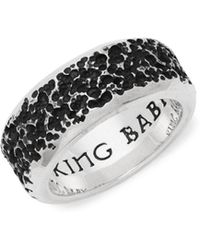 King Baby Studio - Pitted Sterling Silver Ring - Lyst