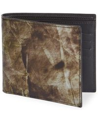 Maison Margiela - Printed Leather Bi-fold Wallet - Lyst