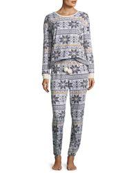 Kensie - Geometric Print Pyjamas - Lyst